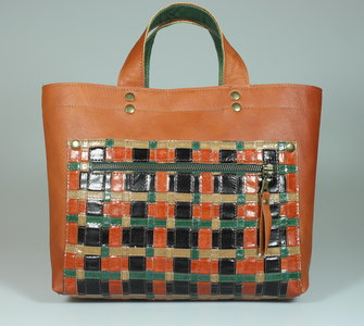 Minishopper Nanda orange multicolor (te koop bij Parfumerie Rona te Harlingen)